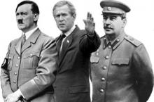 Магар Сталину Гитлер ҷинояткортар аз Буш буданд?!
